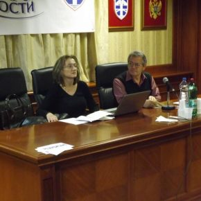 Предсједавајући: др Драгана Кујовић и Добрило Аранитовић