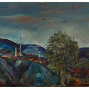 Behaudin Selmanović, Pljevlja, ulje na platnu