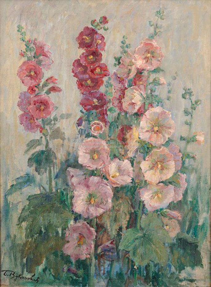 Beta Vukanović, Cvijeće, ulje na platnu
