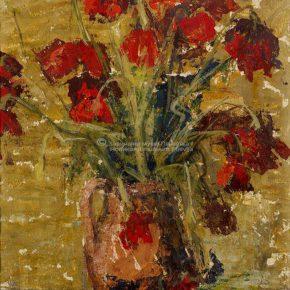 Branko Filipovic Filo, Cvijeće, ulje na papiru