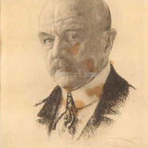Ilija Šobajić, Portret Jovana Cvijića, suva igla