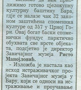 ''Spomeničko nasleđe Bara'' 4