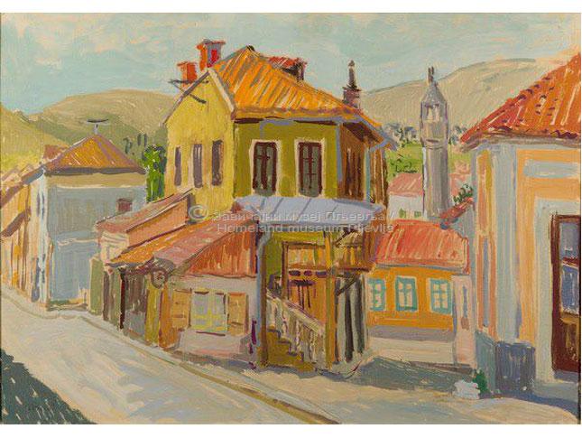 Jovan Kukić, Pljevlja, tempera na kartonu