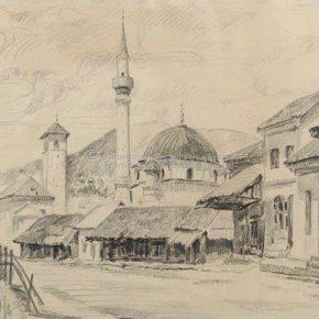 Luka Stanković, Džamija sa sat kulom, olovka na papitu