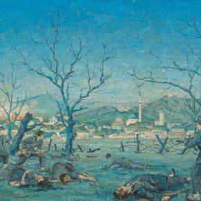 Milenko Vukojičić, Napad na Pljevlja, ulje na platnu