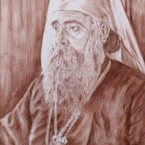 Mirko Marjanović Mario, Portret patrijarha Varnave, grafit na papiru