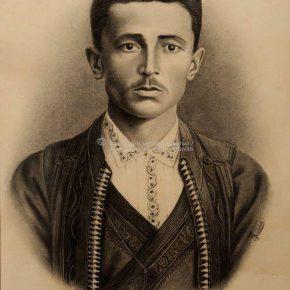 Tanasije Pejatović, Portret Rista Pejatovića, ugljen na papiru