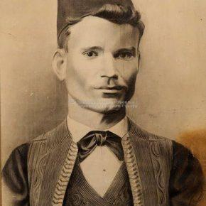 Tanasije Pejatović, Portret Steva Leovca, ugljen na papiru