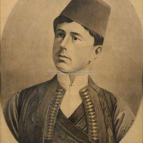 Tanasije Pejatović, Portret,ugljen na papiru