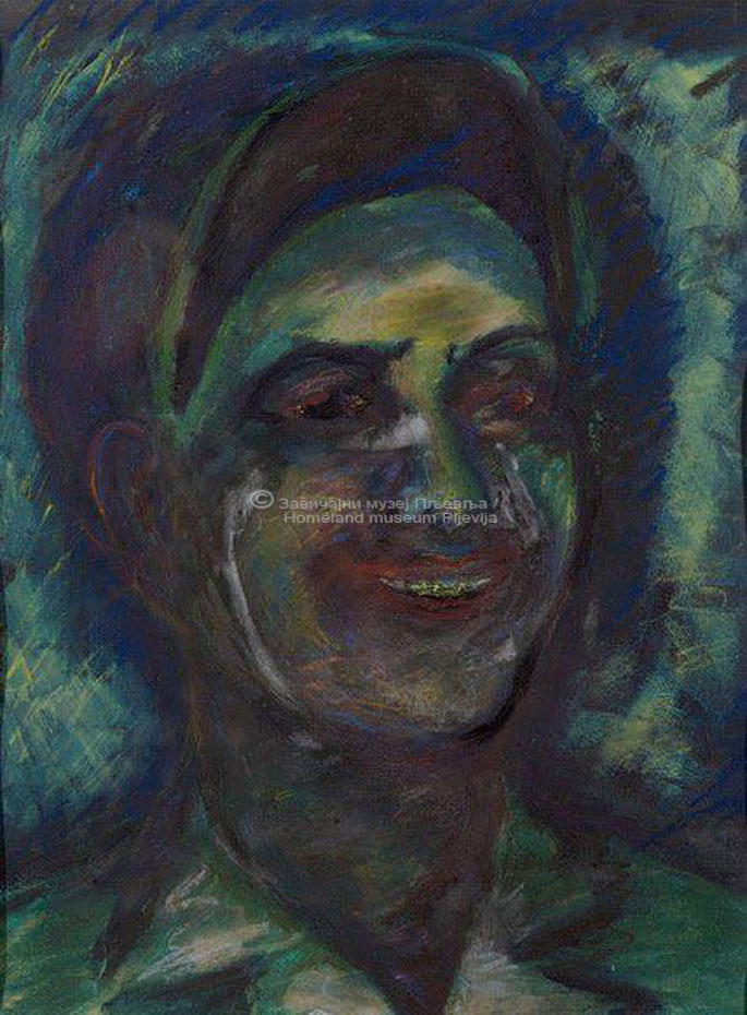 Vera Oraovac, Mladi rudar, tempera i pastel na papiru