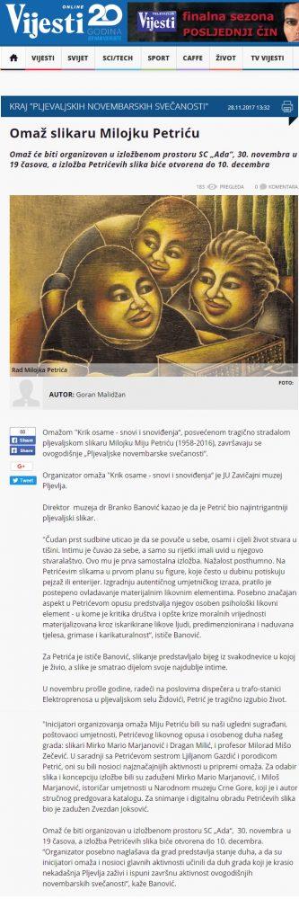 MIjo Petric Vijesti